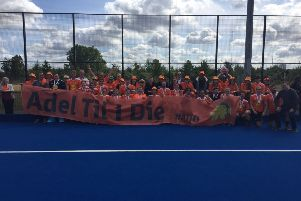 Leeds Adel Hockey Club players. officials and fans at the Mixed Tier 2 semi-finals over the weekend.