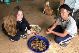 Lauren learns more about Karen culture during the volunteer trip to Huay Pakoot.