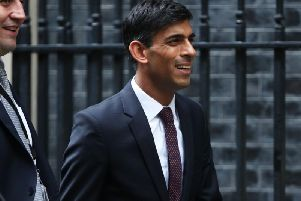 Chief Secretary to the Treasury Rishi Sunak arrives for a Cabinet meeting at 10 Downing Street, London. Photo: Yui Mok/PA Wire