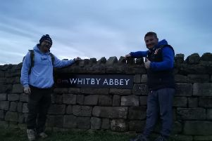 From left Lee Sunderland and Jamie Dodds near the finish line. Picture from Lee Sunderland.