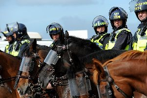 Police watching over a derby match in 2011