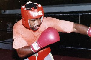 Fidel Smith, Boxer, Pictured in November 1992