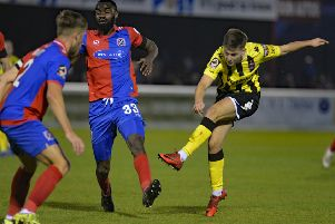 AFC Fylde's Nick Haughton is looking forward to their Easter games against Barnet and Salford City       Pictures: Steve McLellan