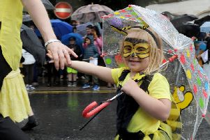 Appealing to all age groups - A youngster dressed as a little bee in the parade at Carnival in Harrogate recently presented by Harrogate International Festivals. (Picture Gerard Binks)
