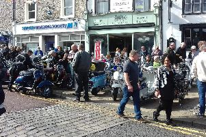 The streets of Clitheroe are packed with crowds