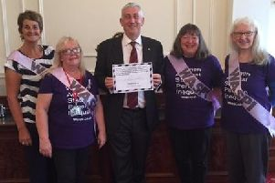 Sir Lindsay Hoyle with WASPI campaigners