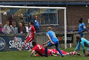 Reece Barrett scored Town's second goal on Saturday after being on the pitch a minute''''PICTURE: Peter Naylor