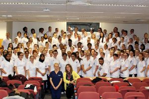 Some of the new student nurses for East Lancashire