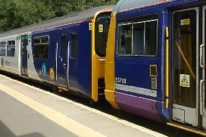 A Pacer and a Sprinter hitched together to make sure  services are accessible for disabled passengers until the Pacers are taken out of service