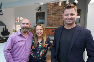 Presenter George Clarke (right) with Sarah Milne-Day and Hugh Jennings. Photo by Amazing Productions.