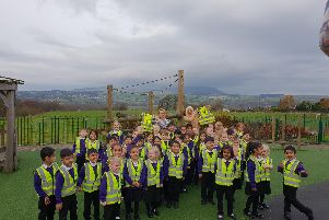 The St Paul's pupils with their high-vis vests