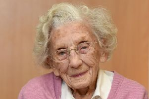 102-year-old Eunice Byers has made at least six cherubs so far.