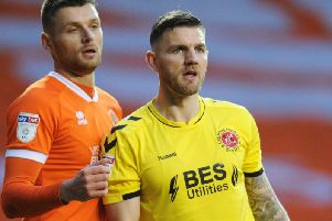 Ash Eastham (right) has recently regained his place in Fleetwood's starting side
