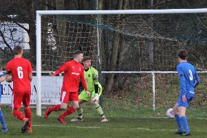 The Ryland defence seems static as Andy Hill rolls the ball home from the edge of the area''''''''PICTURES: Peter Naylor
