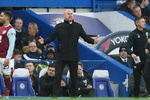 Sean Dyche at Stamford Bridge