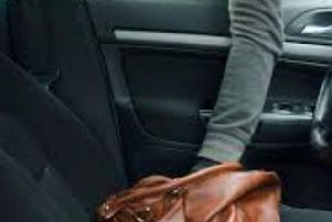 An image released by police showing how easy it is for opportunist thieves to steal valuables on show