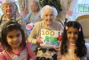 Margaret Cowell celebrates her 100th birthday