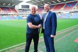 Michael Cain and Paul Walsh at Turf Moor