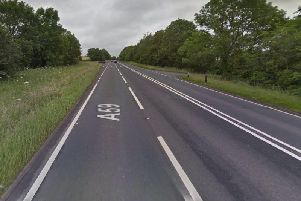 The head on crash happened on the A59 in Sawley.
