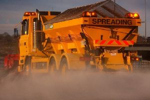 Gritting crews are out treating roads