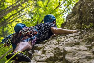 Climbing with Adventures in Wellbeing, for staff at Lancashire Constabulary