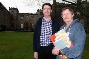 Authors Dave Thomas ( right) and Mike Smith in the grounds of Towneley Hall where they are hoping to stage an exhibition of about their new biography on Bob Lord.