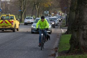 Will a new cycle path along Otley Road happen or will this cyclist remain a lone figure for environmentally-friendly travel in Harrogate?
