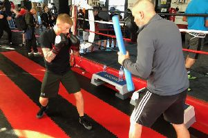 Bantamweight boxer Sam Larkin puts the work in at Elite Boxing in Bolton