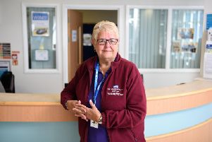 Burnley General Teaching Hospital volunteers such as Mary Davidson will be among those to benefit by applying for a Volunteer Learning Passport