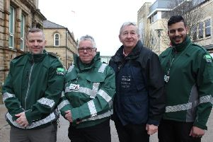 District Enforcement officers in Pendle with Warren Hodgson, National Operations Manager for District Enforcement (left) and David Alexander from Pendle Council (second from right).
