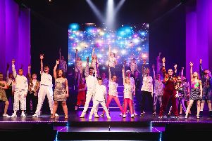 The cast of Popstars The 90s Musical at Pendle Hippodrome Theatre, taken by Sarah Redman. (s)