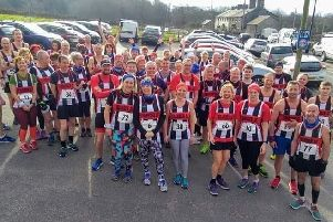 Trawden Athletics Club runners at the Shooters Six