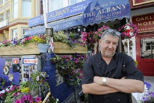 Hotelier Adrian Smirthwaite from the Albany Hotel is receiving negative reviews on his Tripadvisor but they are meant for another Albany Hotel on Clifton Drive