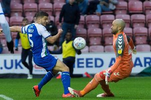Sam Morsy is denied by Darren Randolph