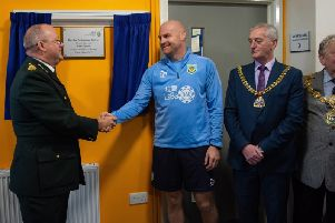 Burnley manager Sean Dyche opens the new Burnley Ambulance Station