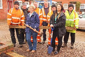 Progress: Tidy Team staff and Berneslai Homes colleagues at work in Darfield