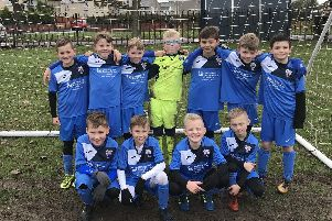Some of the Rossington Main U9s players