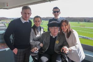 Gary Parkinson at Haydock Park with his family