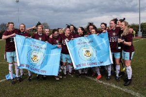 Burnley FC Ladies are jubilant after sealing promotion