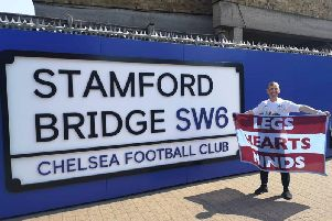 Scott Cunliffe after running to Stamford Bridge, the 18th Premier League ground he has run to from Burnley this season.