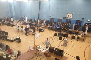 The count at Colne Sports Centre