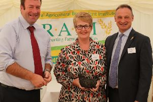 NFU vice-president Stuart Roberts with NFU North West reps Diane Swift (regional co-ordinator) and David Hall (regional director)