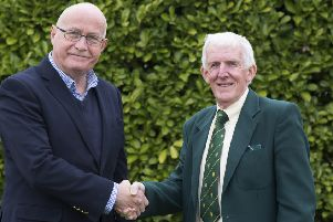 Rob Bradley, Cricket Board chairman (left) and Chris Keywood, Lincolnshire County Cricket Club chairman (right).