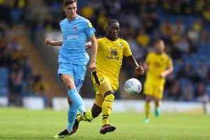 Coventry midfielder Tom Bayliss made 38 league appearances for Coventry in League One last season.