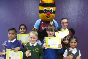 The Spelling Bee champions with Bertie Bee