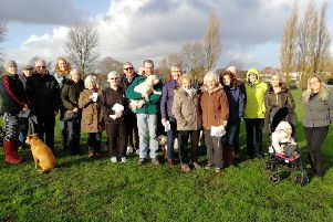 Protests took place at Strawberry Valley on Bent Lane at the prospect of it being used for affordable housing