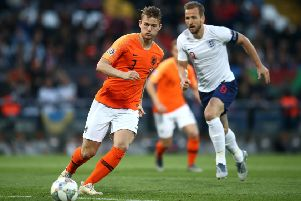 GUIMARAES, PORTUGAL - JUNE 06: Matthijs de Ligt of Netherlands during the UEFA Nations League Semi-Final match between the Netherlands and England at Estadio D. Afonso Henriques on June 06, 2019 in Guimaraes, Portugal. (Photo by Jan Kruger/Getty Images)