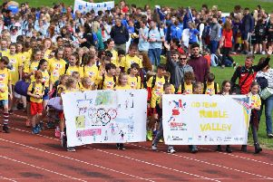 Pupils from the Ribble Valley take part in the opening ceremony