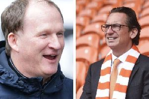 The two Simon's! Sadler, right, has appointed Grayson as Blackpool's new boss