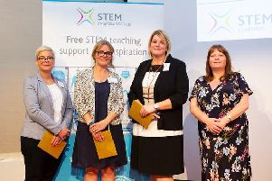 Angie Macgregor (far left) at the awards